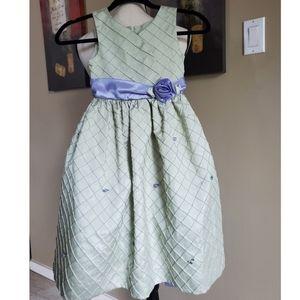 Jayne Copeland Girls Dress, Sage, Size 6X